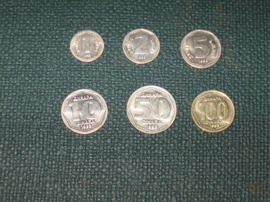 Kovanice iz 1993 - kovnički sjaj