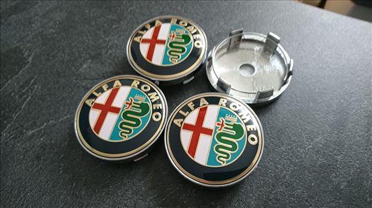 NOVO Alfa Romeo cep za felnu 60mm ZLATNI
