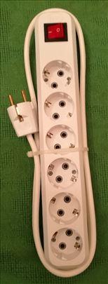 Produžni kablovi.3 i 6 utičnica.sa i bez prekidača