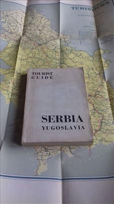 Serbia Yugoslavia Tourist Guide, 1953! + mapa, Ret
