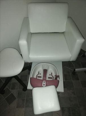 fotelju za pedikir nova ne koriscena sa dodadtkom
