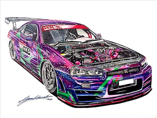 Prodaja crteža Nissan Skyline GT-R