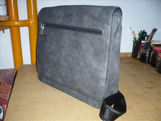 Muška torba sive boje