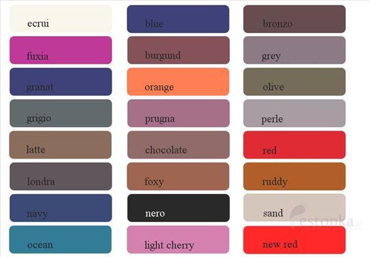 Poluprovidni grilon raznih boja