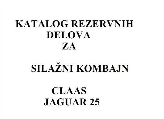Claas Jaguar 25 - Katalog delova