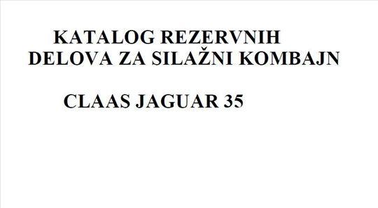 Claas Jaguar 35 - Katalog delova