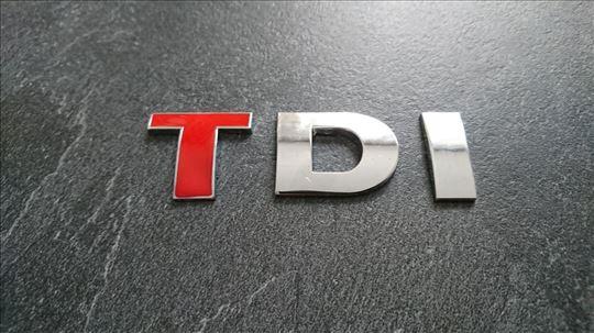NOVO TDI (crveno T) oznaka za VW Golf Passat Jetta