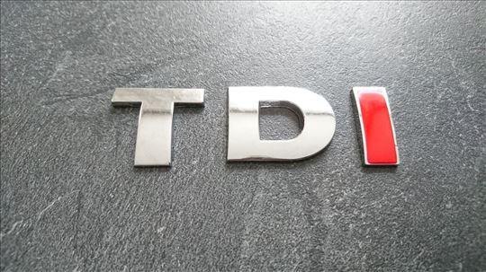 NOVO TDI (crveno I) oznaka za VW Golf Passat Jetta