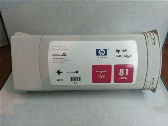 HP original inks. 81 magenta 680 ml dye.