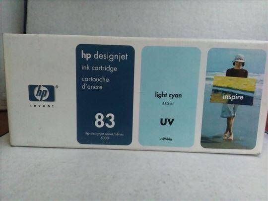HP original inks. 83 light cyan 680 ml UV.