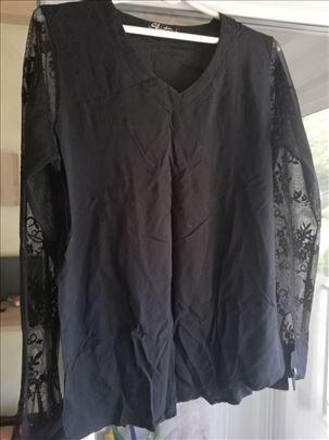 Crna cipkana bluza
