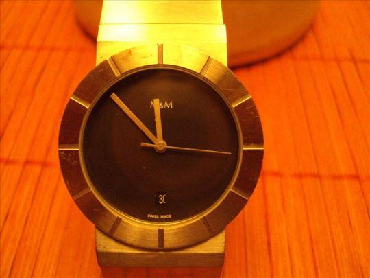 M&M-rucni kvarcni sat datumar -5 rubina.