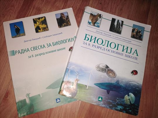 - BIOLOGIJA - udžbenik i radna sveska za 8. razred