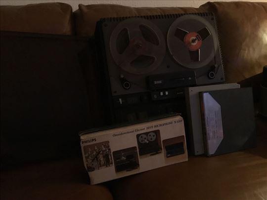 Magnetofoni, foto aparat (lajka format), mikroskop