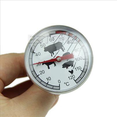 Termometar za pecenje i surenje 0-120C prohrom