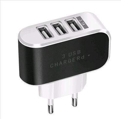 3 USB punjač 5V 3.1A