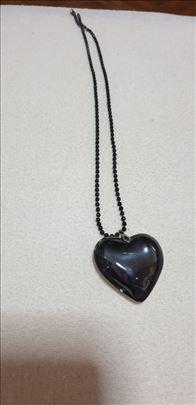 Black heart-italijanski brendiran nakit