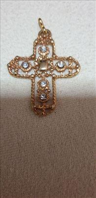 Privezak pozlata sa swarivski kristslima
