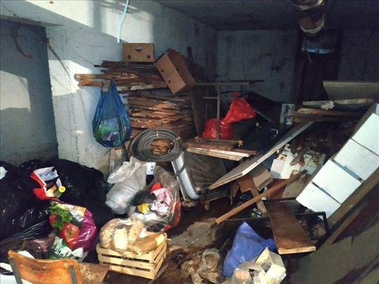 Čišćenje garaža, podruma, tavana, stanova