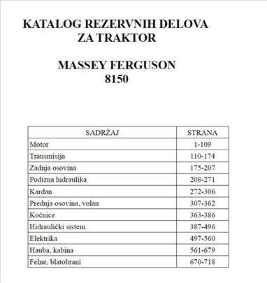 Massey Ferguson 8150 - Katalog delova