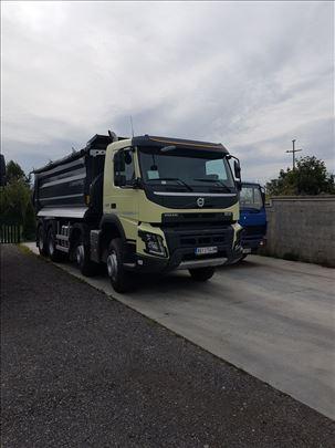 Transport građevinskog materijala kiper kamionima
