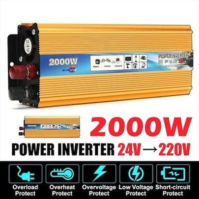 Pretvarač napona 24V-220V 1000W i 2000W