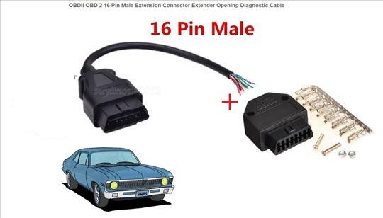 Dijagnostički kabl za OBD-II za sva vozila sa 16pi