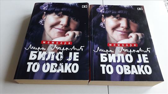 Bilo je to ovako Mira Marković memoari 2 knjige
