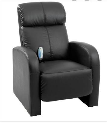 Kožna crna fotelja za masažu
