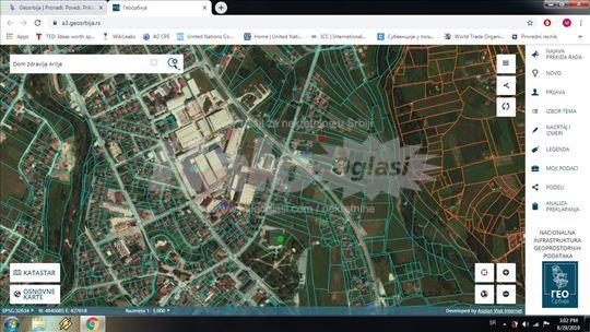 Gradjevinsko zemljiste na atraktivnoj lokaciji.