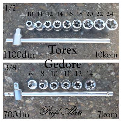 """Set torex gedora 3/8"""" + poluga 3/8"""
