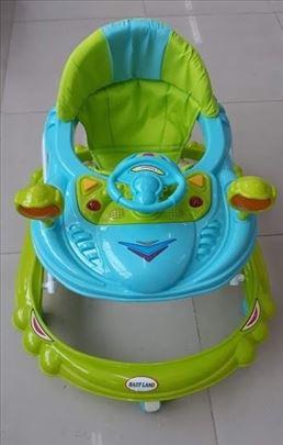 Dubak-šetalica za decu M13130 plavo-zeleni