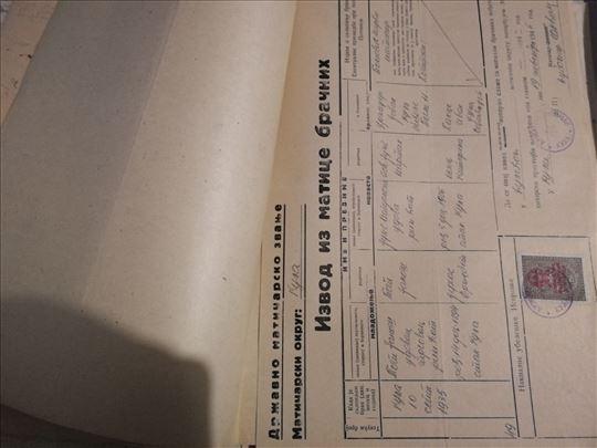 Više od 100 starih dokumenata