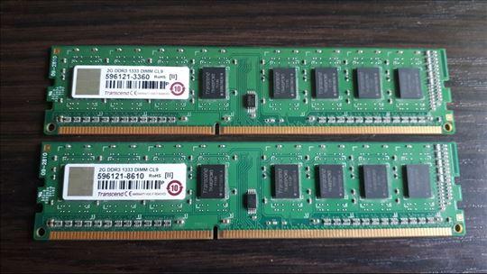 TRANSCEND 2x 2GB DDR3 1333mhz