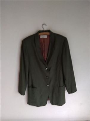 Sako zelene boje od lana - STUDIO Michelle Stuart