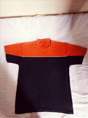 Majica teget, narandžasta sa belom štraftom