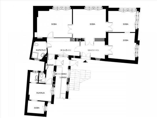 Studentski trg, Simina, 120m2, 4.5, podrum od 30m2