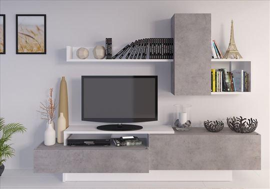 TV komoda DAVOS beton 240cm