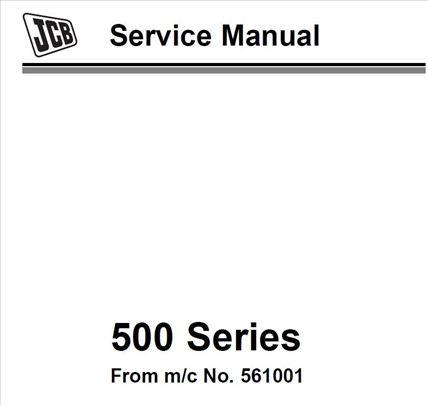 JCB telehandler serija 500 - Radionički priručnik