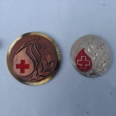 Medalje Dobrovoljno davanje krvi 50 i 35 puta