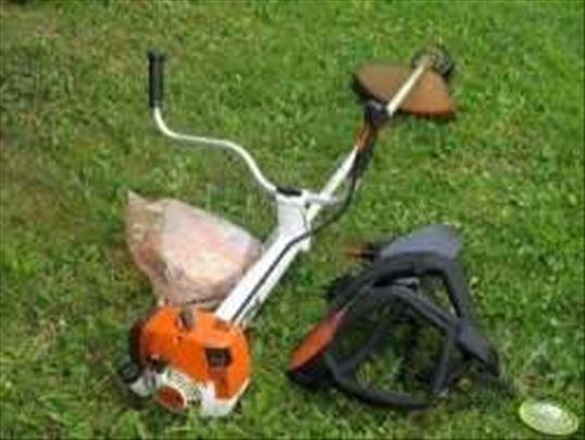Sadjenje trave,krcenje i kosenje. Seca stabala