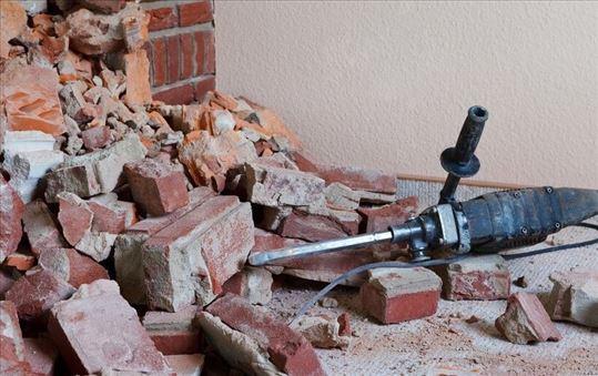Rušenje zidova, otvora
