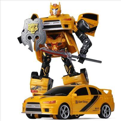 Žuti transformers auto robot