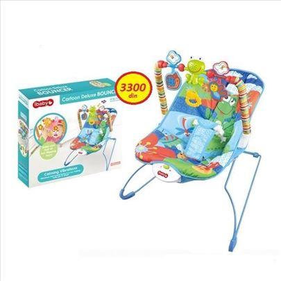 Njihalica - stoličica za bebe do 9kg plave boje