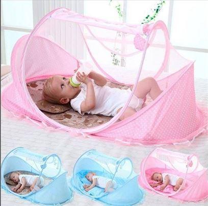 Prenosivi šator sa mrežom protiv komaraca za bebe