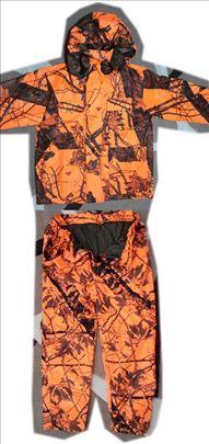 Komplet za lov oranž maskirna jakna i pantalone