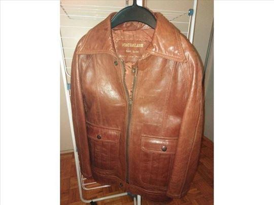 Braon kožna jakna za dečake