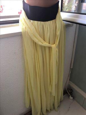 Suknja limun žute boje duga
