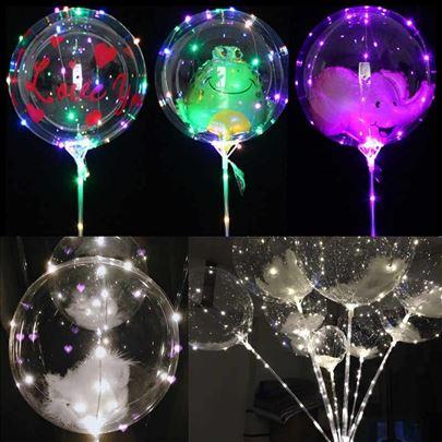 LED svetleći baloni,1.5m(sa baterijama)
