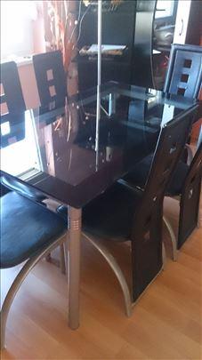 Trpezarijski što sa 6 stolica